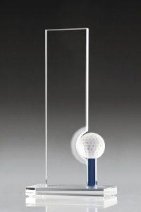 "Golfpokal ""Delia Award"" mit Golfball"