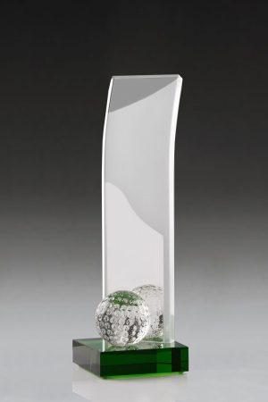 Golfpokal Alva Award mit Golfball