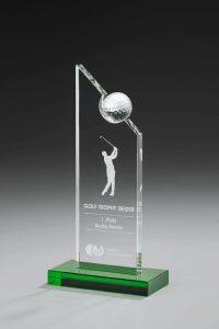 """Golfpokal """"Birdie Award"""" mit Gravur und Golfball"""