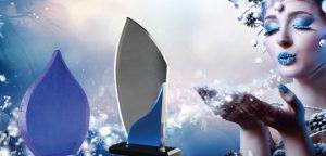 Acrylglastrophäen der Blue Acryl Kollektion von Glaswert