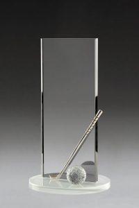 """Golfpokal """"Capi Award"""" mit Golfball und Golfschläger"""