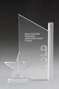 "Glaspokal ""Celest Award"" mit Lasergravur"