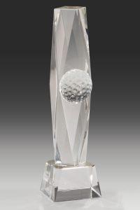 "Golfpokal ""Decus Award"" mit einem Golfball"