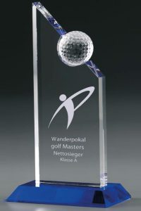"Golfpokal ""Excellence Award"" mit Gravur"