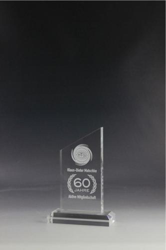 Glaspokal mit einer Lasergravur veredelt
