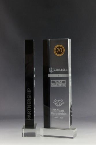 Glaspokale für Scholemann Remy aus mit Lasergravur