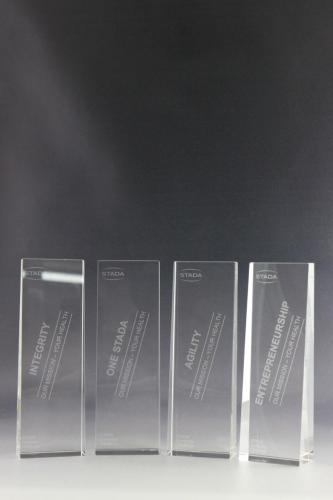 Glaspokale mit Lasergravur