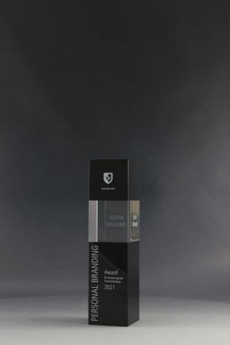 Glaspokal aus der Cubix Kollektion mit einem UV-Direktdruck