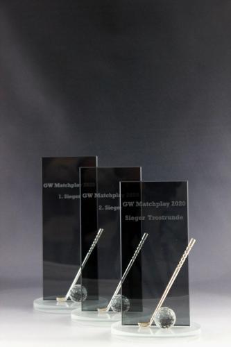 Golfpokale, Kategorie Matchplay, aus Kristallglas für Georg Weisenberger GmbH