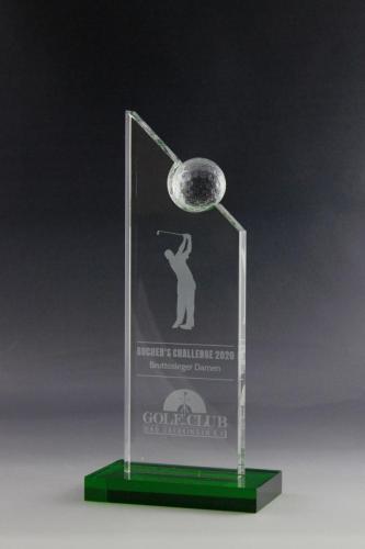 Golfpokal mit Lasergravur für den Golfers Club Bad Dürkheim